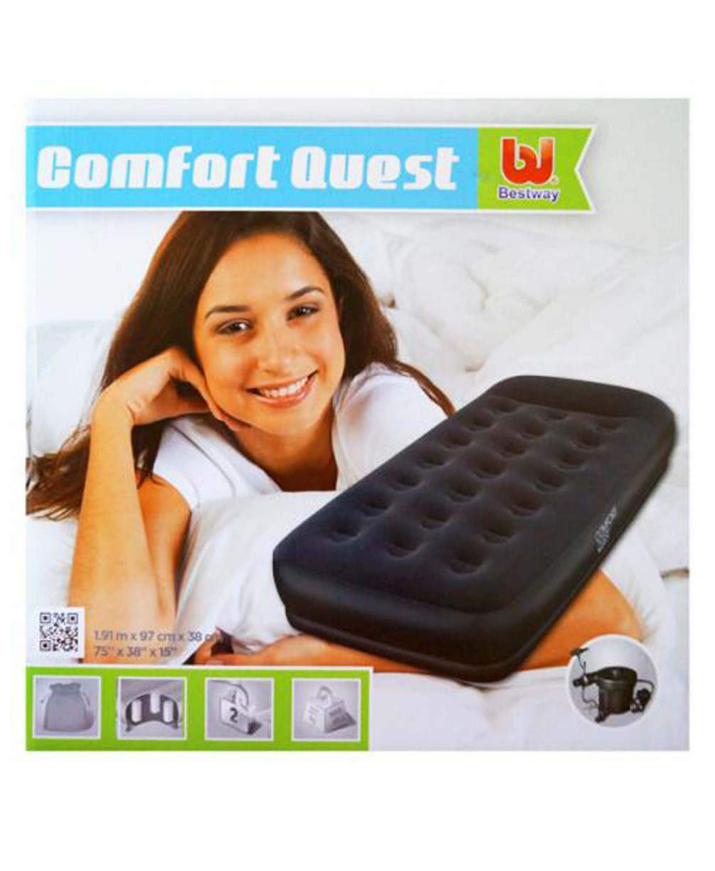 Надувная кровать Restaira Air Bed with Ac Air Pump(Single) 191х97х38 см, электронасос в комплекте, Bestway 67453 BW