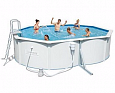 Стальной овальный бассейн Hydrium Oval Pool Set 500х360х120см, 16296л,фил.-насос 3028л/ч, лестница, Bestway 56583 BW